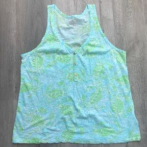 LILLY PULITZER V NECK TOP SIZE L